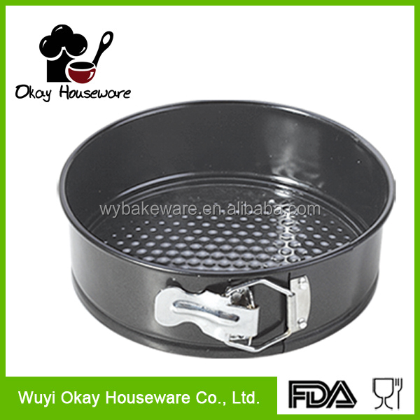 OKAY BK-D2037 New 3pcs Pie Cake Non Stick Tart Round Bottom Cake Pans Baking Pastry Mold Pan