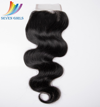 High Feedback Full Ends High Density Free Part Body Wave Lace Closure 4x4