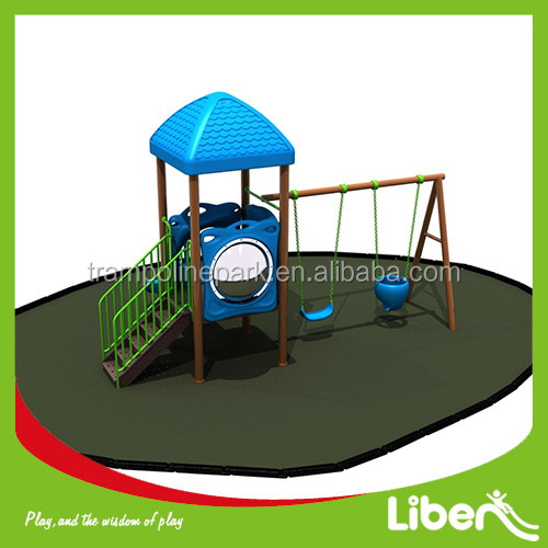 Cheap Hottest Garden Design Outdoor children park plastic slide swing set