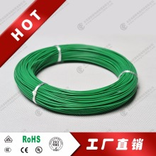 UL 1007 Stranded Copper Wire, 20 AWG, 300V, 500', RAL 6018 Color Code, Green