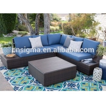 High quality outdoor furniture rattan contemporary corner sofa set