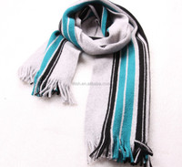 Wholesale acrylic knit stripe knit fans football team scarf