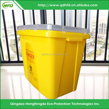 PP Nestable Biohazard Sharp Container sharp collector waste bin