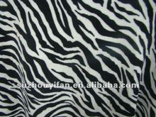 100% polyester printed coral fleece fabric with zebra