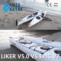 RECOMMEND 2016 PE hull single outrigger canoe racing boat from Sweden