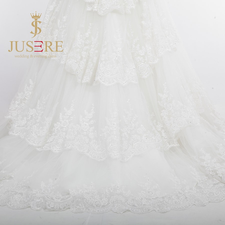 Fashion Floor Length A Line Bride Skirts Pearls Beaded Appliqued Sweetheart Ivory Tulle Wedding Dresses 2016 tiered lace skirt