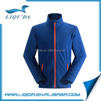 China winter breathable 100% polyester blank blue man cheap fleece jacket