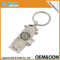 High quality customized embossed souvenir metal key chain