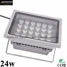 Waterproof IP65 24v 24 watt dmx rgb outdoor led flood light