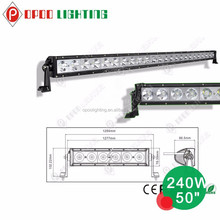 China wholesale 10w car accessories 240w single row led light bar 50inch