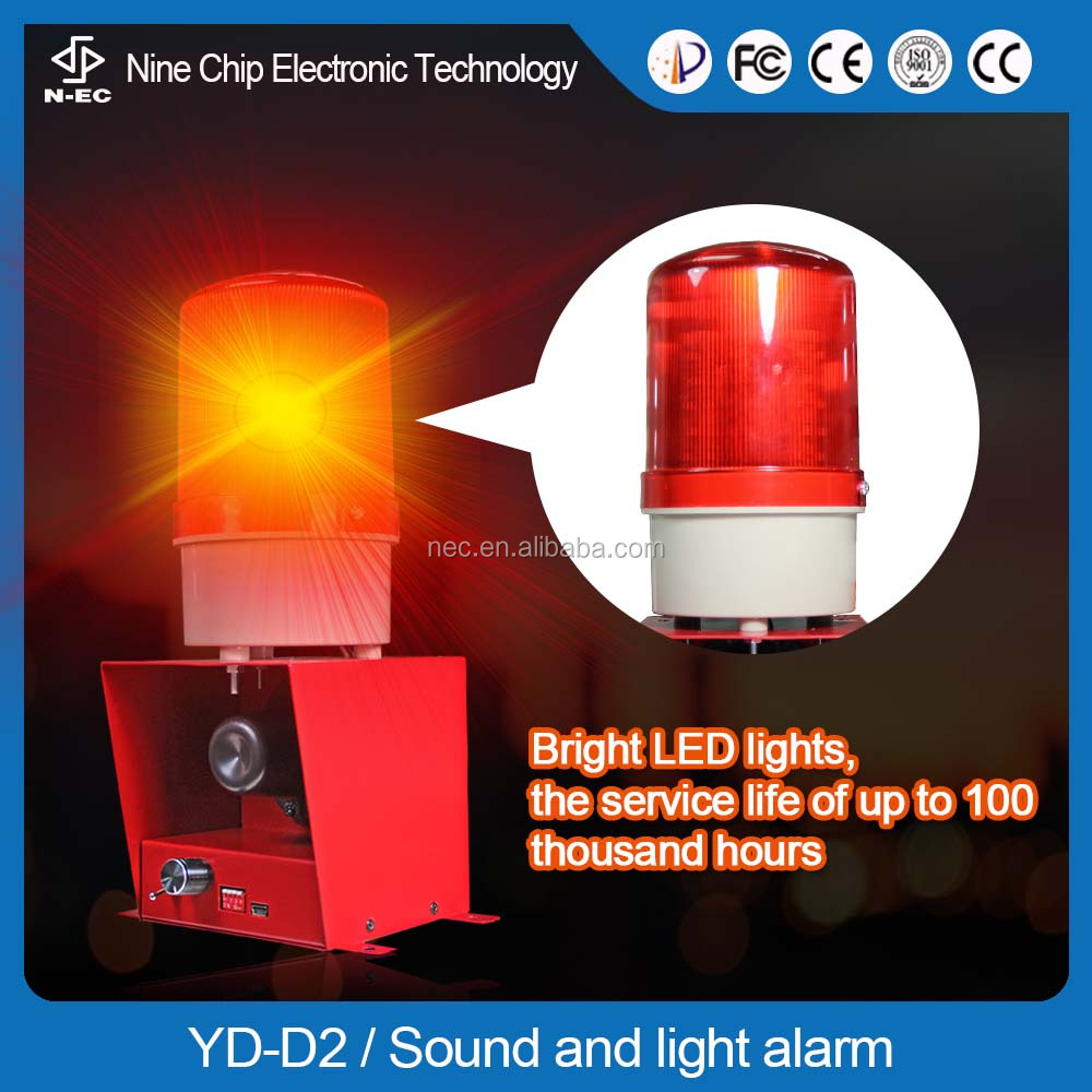 Led security alarm light, construction security alarm systems and bluetooth security alarm system