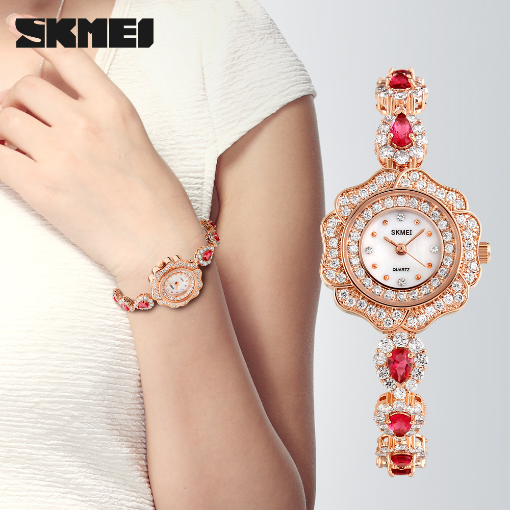water proof watch for woman diamond woman skmeiwatch new product 1199