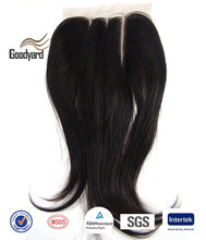 Wholesale indian human hair 3 part silk base lace closure
