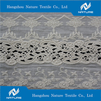 Nature Japanesse  Cotton Punching Embroidery Fabric