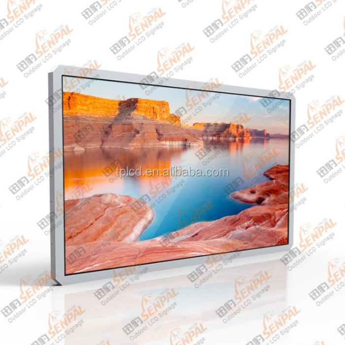 19 to 82 inch outdoor touch screen kiosk lcd/led monitor manufacturer 1500nits high brightness