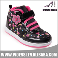 new trendy fashion design wenling factory colorful printing high cut shoes for girls