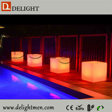 Alibaba Hot Sale waterproof remote control RGB color glow 3d led cubes for party