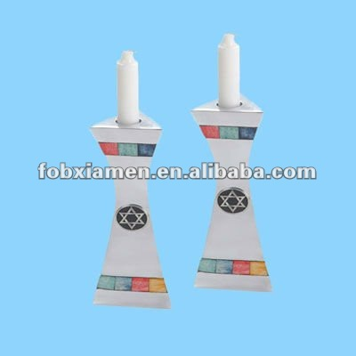 ceramic porcelain shabbat candlesticks judaica gifts