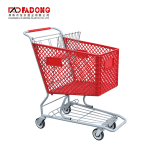 Cheap metal plastic shopping trolley grocery cart