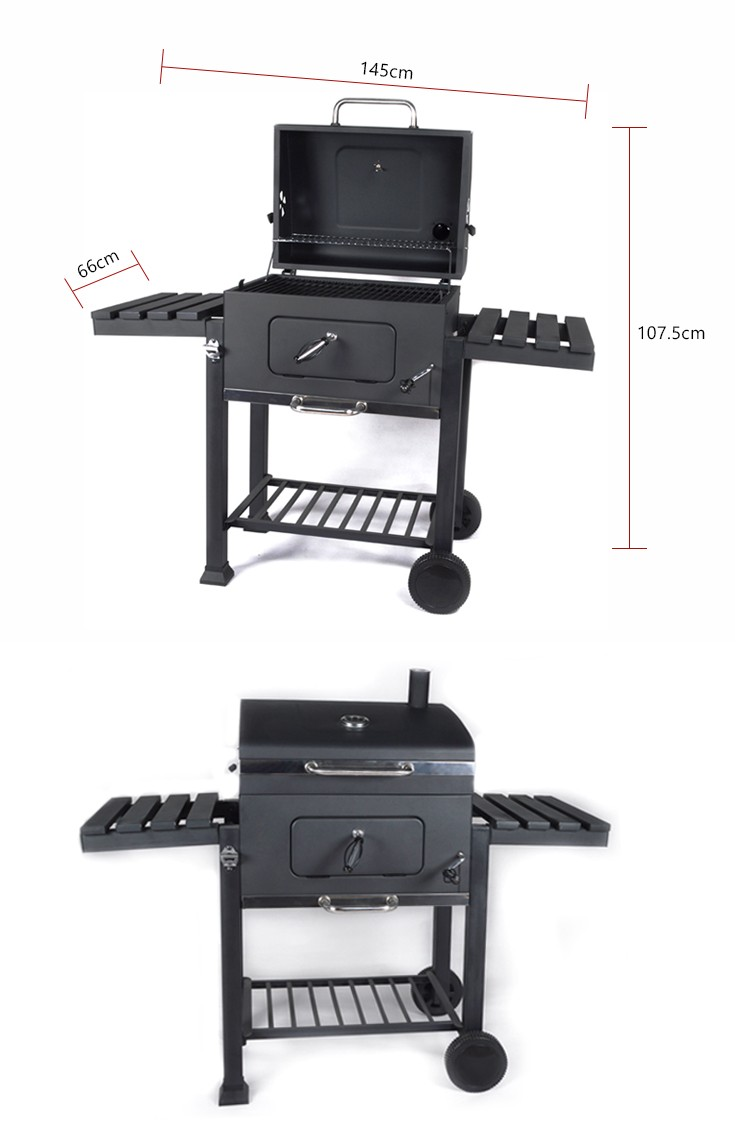 Hotlink Made In China wheels Trolley Barbecue Bbq Charcoal Grill For Sale