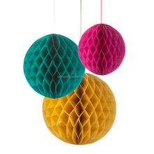 wedding decoration hanging handmade tissue paper craft honeycomb ball