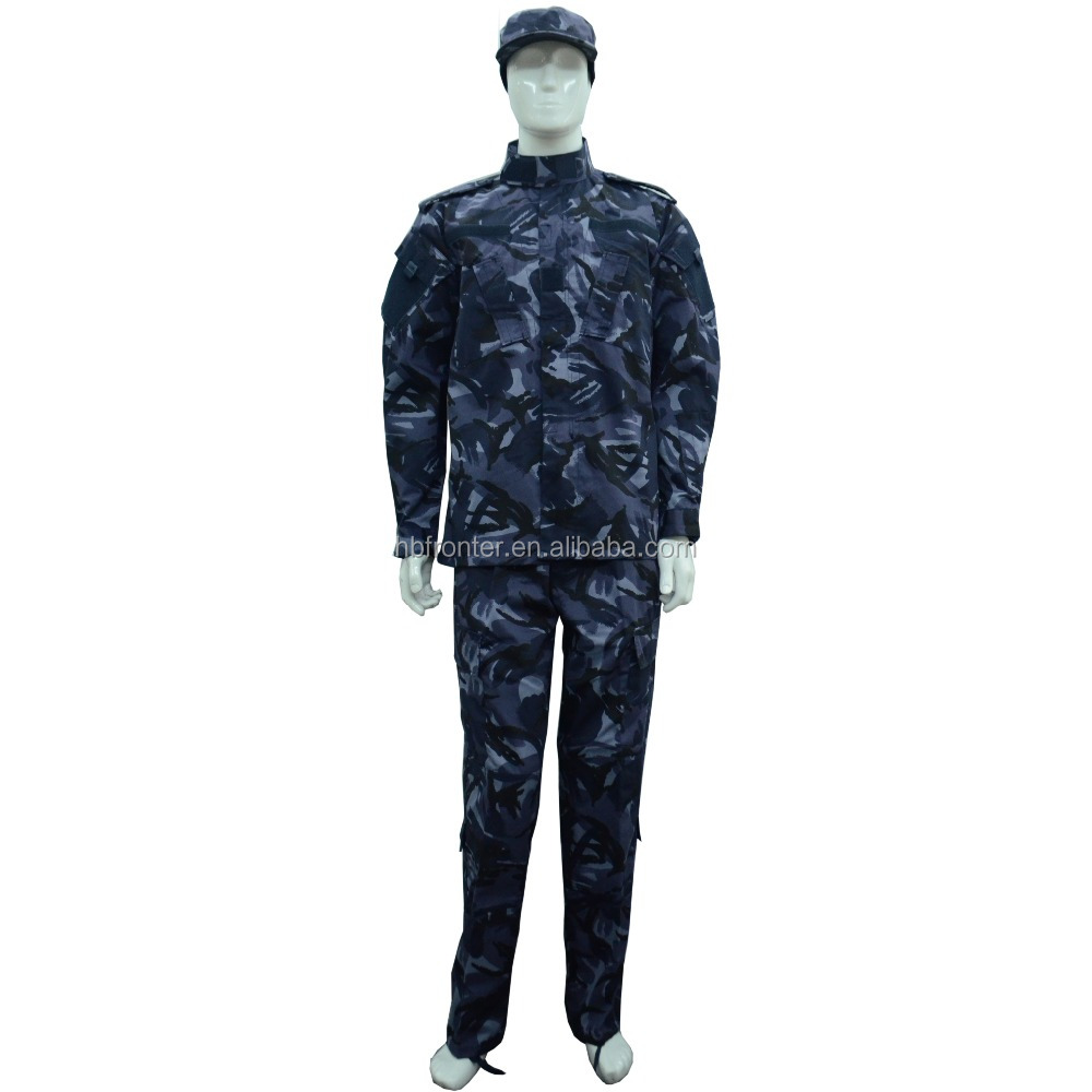 65% Polyester 35% Cotton Twill British Navy Camouflage Clothing