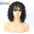 Newest fashion from Qingdao10A deep wave color black Glueless Indian Human Hair Full Lace Wig with bang