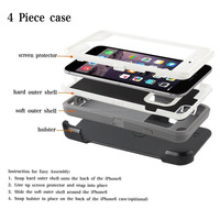 Protective Case Hard Back PC Cover Anti-Scratch Reinforced Corner Case For iPhone 7