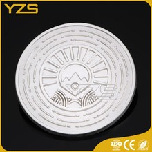 customized silver anodizing coin