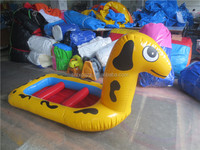 Hot sale animal kiddie inflatable boats,inflatable cute boat with high quality