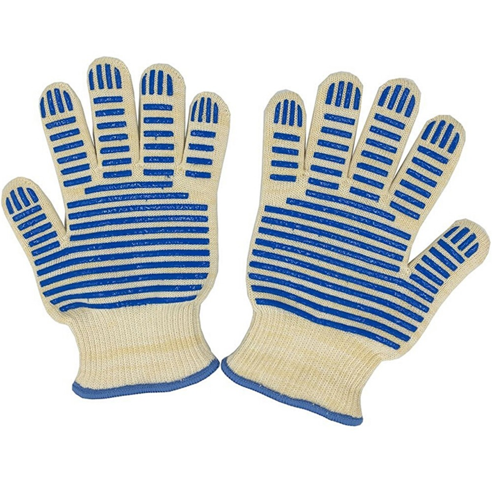Set of 2 Grill Gloves Insulated By Nomex & Kevlar Fibers
