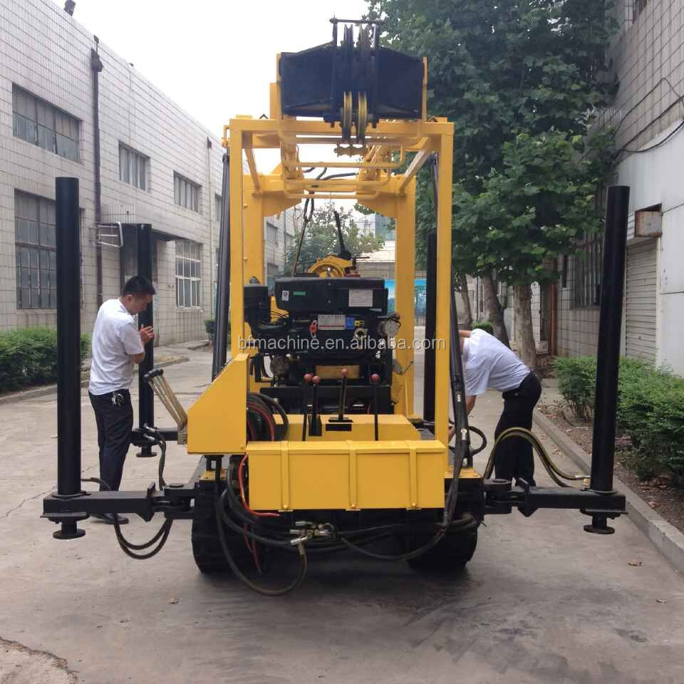 130m Geotechnical machinery water well drilling equipment/diamond drill rigs for sale