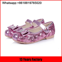 2016 wholesale new model beautiful stylish fancy simple flat costume kids girls shoes