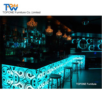 New Design Night Club Coffee Shop Drink Wine Led Lighted Bar Counter Design