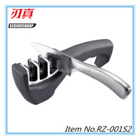2016 Amazon hot sale 3-stage kitchen tools knife sharpener
