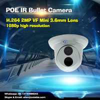 Colable Hot 2MP Network IR Fixed Dome Camera ip camera wireless cctv dome camera 1080p webcam