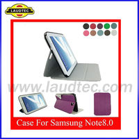 New Style With button Tablet PU Leather Stand Case for Samsung Galaxy Note 8.0