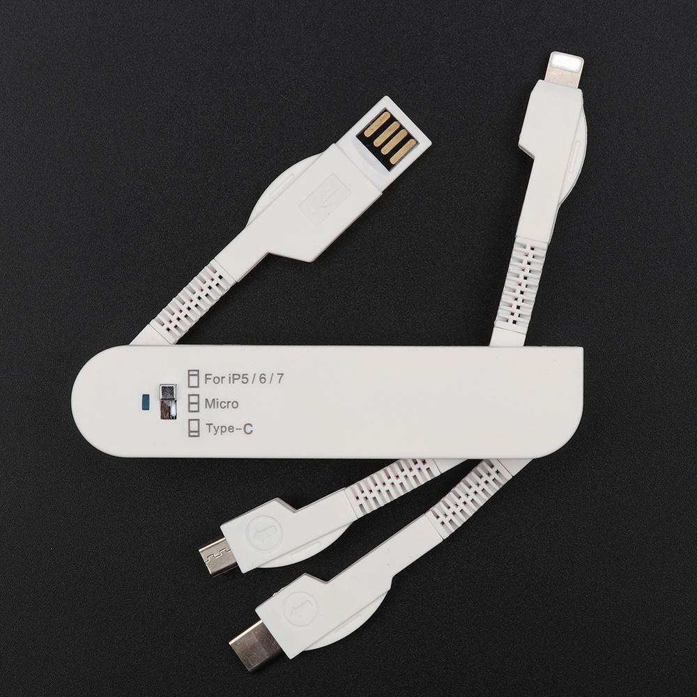 Frais de voyage Câble 3in1 Couteau Suisse Couteau Pliant Chargeur de Synchronisation de Données USB en vente - ANKUX Tech Co., Ltd