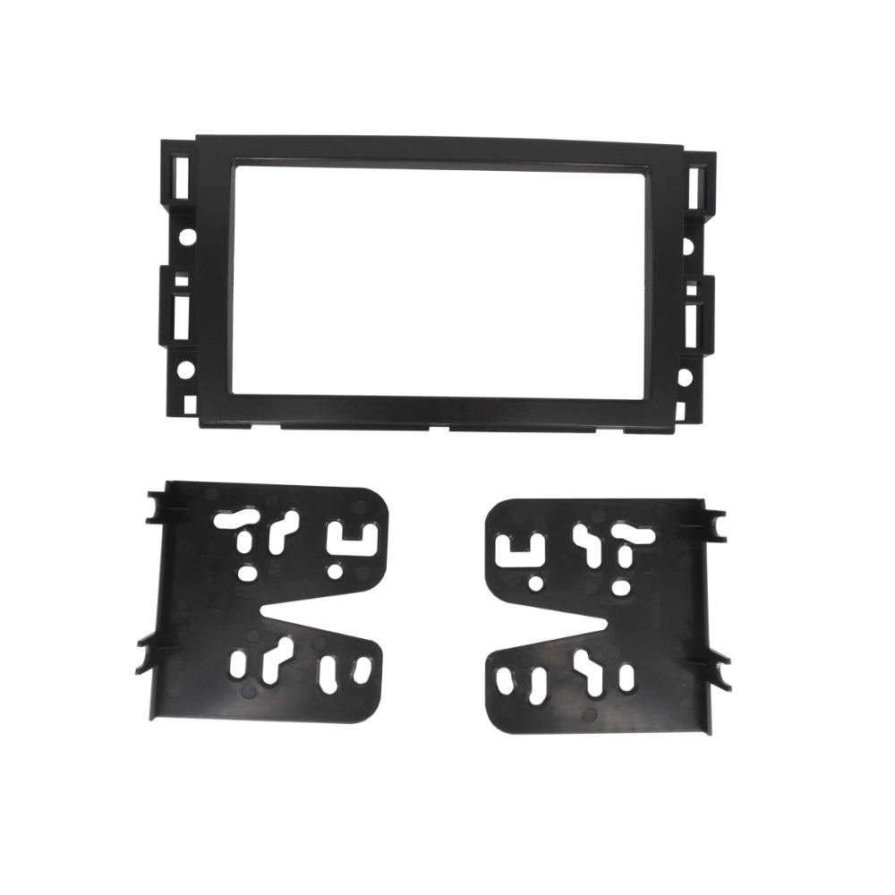 Double Din Car Fascia Facia for Buick Enclave 2007-2012 Radio DVD Stereo CD Panel Dash Mounting Trim Kit Face Plate
