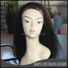 Human hair wig popular indian women hair wig afro kinky curl full lace wig