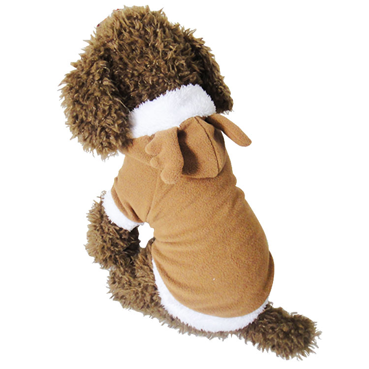 2016 Christmas Reindeer pet gift fleece sweaters dog hoodie