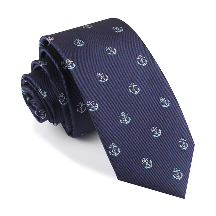 best quality fashion navy color neckties for men