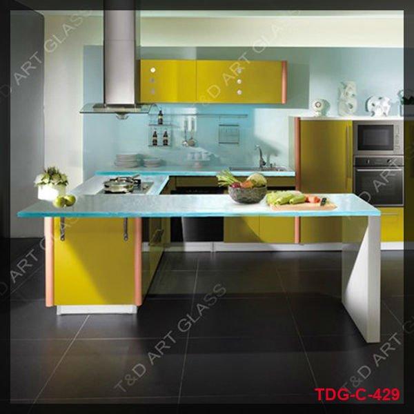 aqua gie en glas arbeitsplatte f r die k che tischplatte. Black Bedroom Furniture Sets. Home Design Ideas