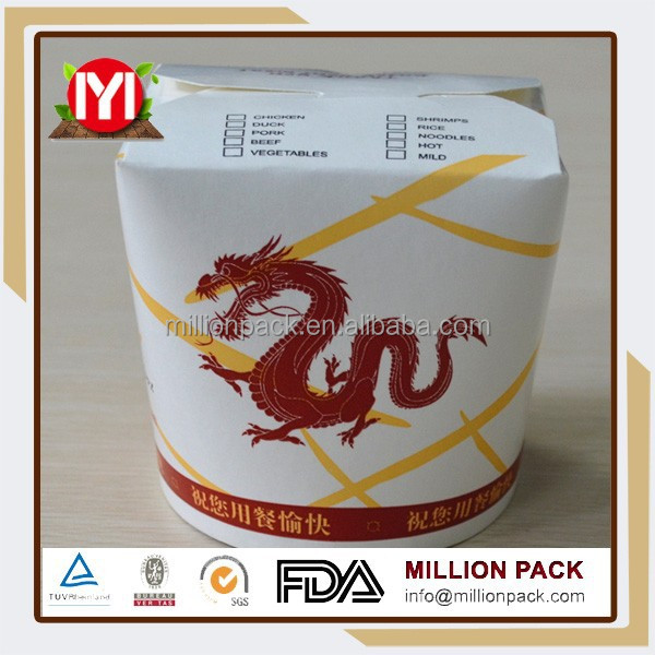 food/noodle non-toxic custom disposable paper meal box