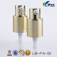 gold color 18/410 AS Full Cap Plastic Hand Cream Pump Dispensers