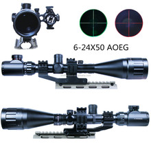 6-24x50 AOE Gun Scope tactical thermal scope with Free Mount for Ar15