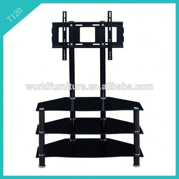 tv stand furniture wall mount glass shelves cabinet