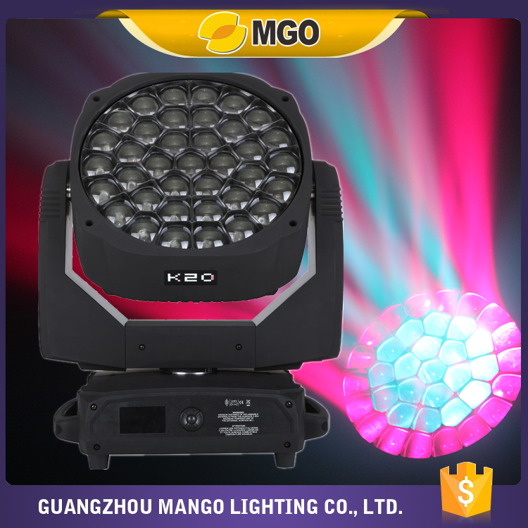 2016 New Led Dj Lights 37X15W Wash Zoom Moving Head B Eye K20