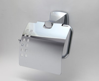 LUXURY DURABLE BATHROOM ACCESSORIES CHROME ZIN ALLOY TOILET PAPER HOLDER WITH LID