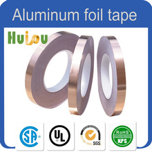Aluminum laminated backing HVAC / R 80 micron aluminum foil tape
